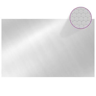 vidaXL Floating Rectangular PE Solar Pool Film 8x5 m Silver