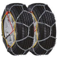 2 Car Snow Chains 12mm KN70 195/55-15 195/60-15 205/50-15 195/50-16