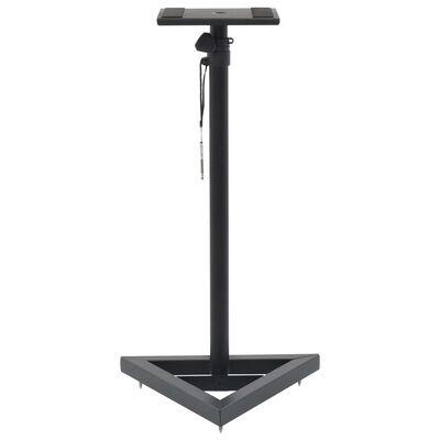 vidaXL Studio Monitor Speaker Stands 2 pcs Black Steel