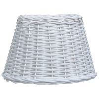 vidaXL Lamp Shade Wicker 30x20 cm White