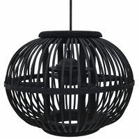 vidaXL Pendant Lamp Black Willow 40 W 30x22 cm Globe E27