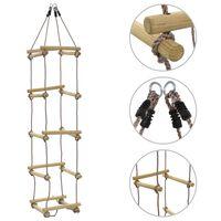 vidaXL Kids Rope Ladder 200 cm Wood