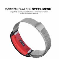 Milanese loop Watch Band For Samsung Gear Fit 2 Smart Watch-(Silver Sm