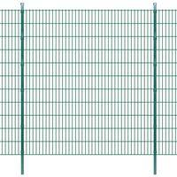 vidaXL 2D Garden Fence Panels & Posts 2008x2230 mm 4 m Green