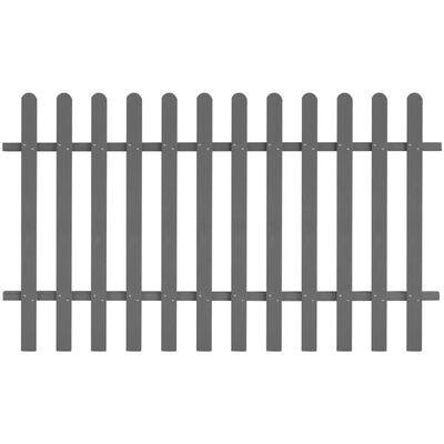 vidaXL Picket Fence WPC 200x120 cm