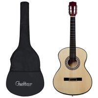 vidaXL 12 Piece Classical Acoustic Guitar Beginner Set 4/4 39