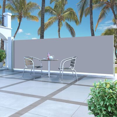 vidaXL Retractable Side Awning 160 x 500 cm Cream