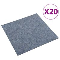 vidaXL Floor Carpet Tiles 20 pcs 5 m² Blue
