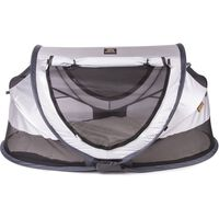DERYAN Pop-up Toddler Travel Cot with Mosquito Net Luxe 2020 Sliver