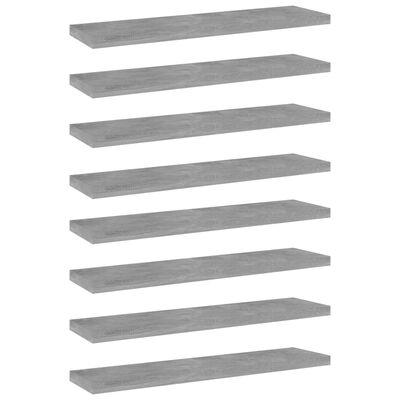 vidaXL Bookshelf Boards 8 pcs Concrete Grey 40x10x1.5 cm Chipboard