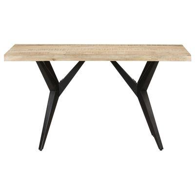 vidaXL Dining Table 140x70x76 cm Rough Mango Wood