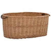 vidaXL Firewood Basket with Carrying Handles 78x54x34 cm Natural Willow