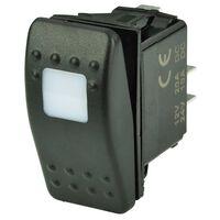 BEP CONTURA SWITCH SPST BLACK ON/OFF 1 AMBER LED