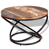 vidaXL Coffee Table Solid Reclaimed Wood 60x60x40 cm