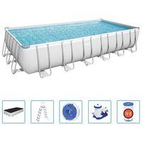 Bestway Power Steel Swimming Pool Set Rectangular 732x366x132 cm