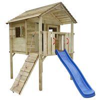 vidaXL Playhouse Set with Slide and Ladder 360x255x295 cm Wood