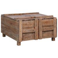 vidaXL Coffee Table 65x65x38 cm Solid Reclaimed Wood