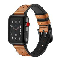 Sport Band for Apple Watch 42mm Soft Leather Silicone Strap Replacemen