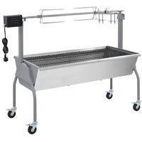vidaXL Electric BBQ Rotisserie Stainless Steel