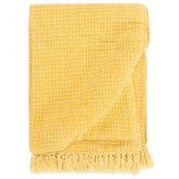 vidaXL Throw Cotton 125x150 cm Mustard Yellow