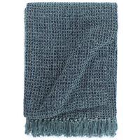vidaXL Throw Cotton 125x150 cm Indigo Blue