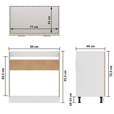vidaXL Sink Bottom Cabinet Sonoma Oak 80x46x81.5 cm Chipboard