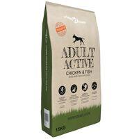 vidaXL Premium Dry Dog Food Adult Active Chicken & Fish 15 kg