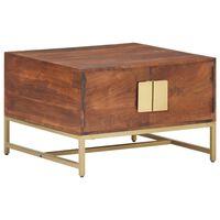vidaXL Coffee Table Honey Brown 67x67x45 cm Solid Acacia Wood