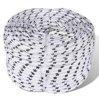 vidaXL Braided Boat Rope Polyester 6 mm 500 m White