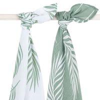 Jollein Hydrophilic Multifunctional Cloth 2 pcs Nature 115x115 cm Ash Green