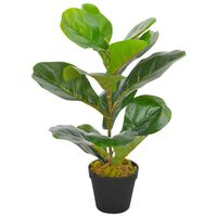 vidaXL Artificial Plant Fiddle Leaves with Pot Green 45 cm