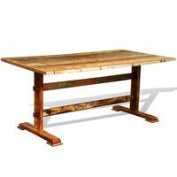 vidaXL Dining Table Vintage Reclaimed Wood