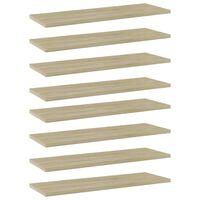 vidaXL Bookshelf Boards 8 pcs Sonoma Oak 60x20x1.5 cm Chipboard