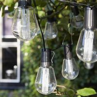 Luxform Solar-operated Party Lights with 10 LEDs Alicante Transparent