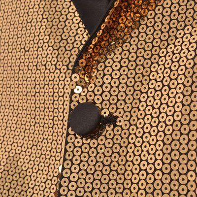 vidaXL Men's Sequin Dinner Jacket Tuxedo Blazer Gold Size 50