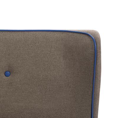 vidaXL Bed Frame Taupe Fabric 120x190 cm