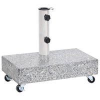 vidaXL Umbrella Base Light Grey 45x25x8.3 cm Granite