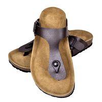 vidaXL Women's Bio Cork Sandal with Flip Flop Design Brown Size 36