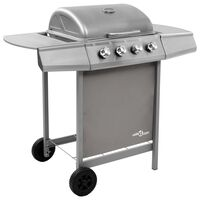 vidaXL Gas BBQ Grill with 6 Burners Silver