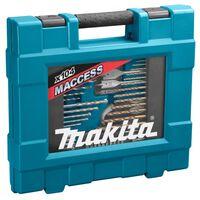 Makita 104 Piece Drill Combination Set Silver and Black