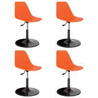 vidaXL Swivel Dining Chairs 4 pcs Orange PP