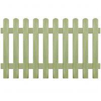 vidaXL Picket Fence Impregnated Pinewood 170x100 cm 6/9 cm