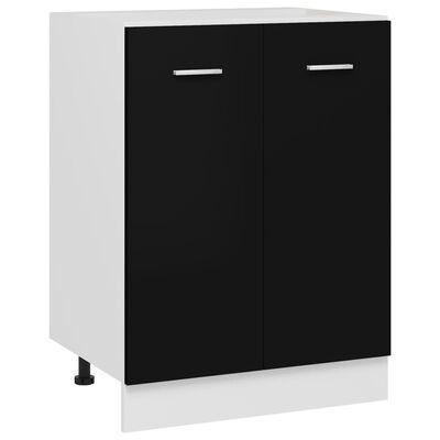 vidaXL Bottom Cabinet Black 60x46x81.5 cm Chipboard