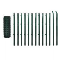 vidaXL Euro Fence Steel 25x1.0 m Green