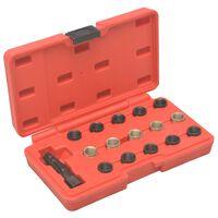 vidaXL 16 Piece Spark Plug Thread Repair Tool Kit M14x1.25