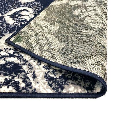 vidaXL Modern Rug Paisley Design 140x200 cm Beige/Blue,