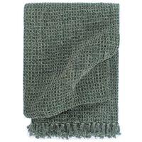 vidaXL Throw Cotton 160x210 cm Dark Green