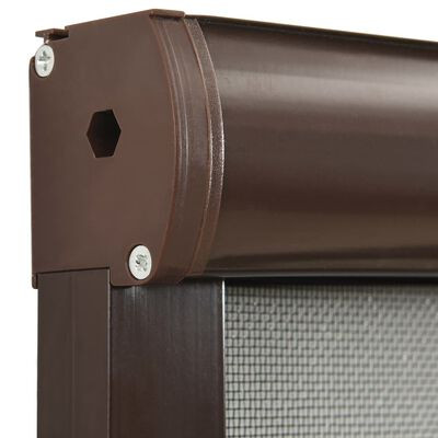 vidaXL Roll down Insect Screen for Windows Brown 90x170 cm