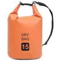 vidaXL Dry Bag Orange 15 L PVC