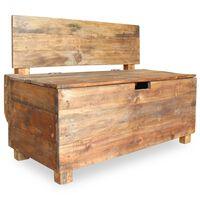vidaXL Bench Solid Reclaimed Wood 86x40x60 cm